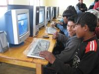 New BQEF computers at Quaker school in Achacachi
