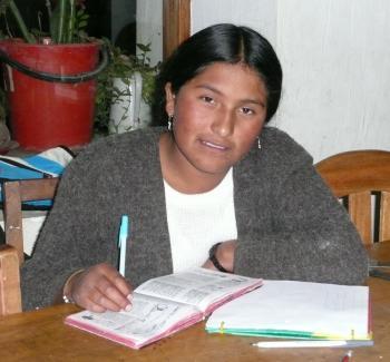 Albertina studying