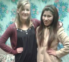 Charlotte Blair and Ani Ticona Serrano, fast friends.