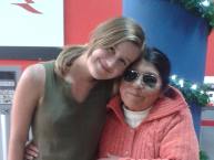 Charlotte and Juana share a moment. Developing warm friendships with homestay host families is one of the many joys BQEF's volunteers experience.