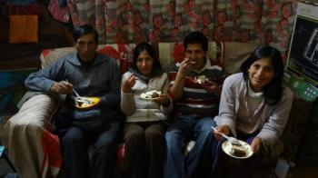 Emma Quispe family celebration