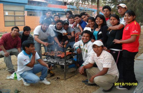 Gaby and Her Fellow Ag Students Celebrate Students Day with a Barbecue