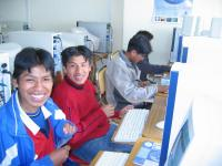 Max Paredes students and computer lab