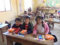 Oscar, Angel, and Nelly in the Classroom