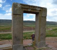 Fanny at Tiwanaku