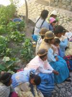 Villagers waiting to see the doctor at the Internado-QST clinic